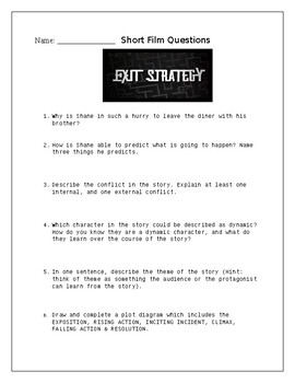 """Exit Strategy"" Short Film Questions"