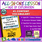 ⭐Exploration Era Vocabulary Lesson Interactive Notebook &