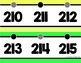 {Extended} Number Line (-30 - 215) - Bright Solids