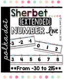 {Extended} Number Line (-30 - 215) - Sherbet Polka Dot