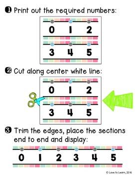 {Extended} Number Line (-30 - 215) - Sherbet Vertical Stripes