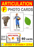 */F/ Articulation 60 Photo Flash Cards : Speech Therapy