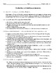 """F. Scott Fitzgerald's """"The Baby Party"""" Worksheet (or Test) with Answer Key"""