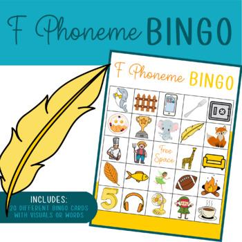 """""""F Sound"""" Articulation Bingo"""