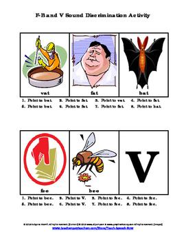 F-B and V Sound Discrimination Activity