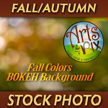 """FALL Colored BOKEH Highlights"" - Background Photograph - BOKEH - Stock Photo"