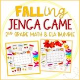 """FALLing Jenga"" Autumn Themed Game Cards: ELA/Reading & Ma"