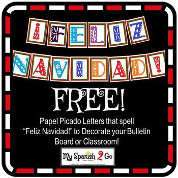 """""""FELIZ NAVIDAD"""" Papel Picado Jpegs for a BULLETIN BOARD, B"""