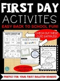 *FIRST DAY ACTIVITY PACK*: Back to School Worksheets Perfe