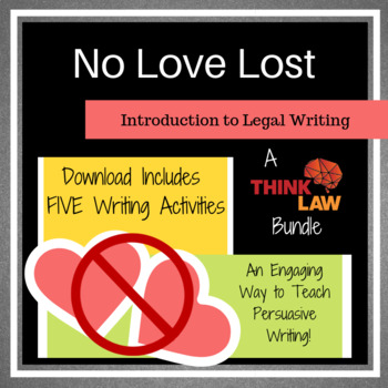 *FIVE* Valentine's Day Persuasive Writing Lessons Based on Real-Life Legal Cases