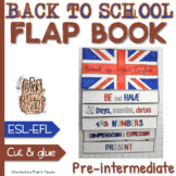 FLAP BOOK ✀ CHEAT SHEET for ESL / ELL students - Back to school