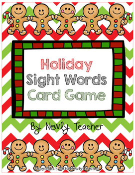 Holiday Sight Words Card Game