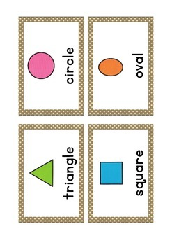 {FLASH CARDS} SHAPES VOCABULARY (DEMO)
