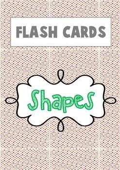 {FLASH CARDS} SHAPES VOCABULARY (DEMO)