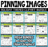 Holiday Pinning Images Clipart Mega Bundle {Zip-A-Dee-Doo-Dah Designs}