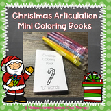 Christmas Articulation Mini Coloring Books