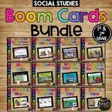 1st & 2nd Grade SOCIAL STUDIES Boom Cards™ BUNDLE Distance Learning