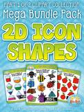 2D Icon Shapes Clipart Mega Bundle Part 1 {Zip-A-Dee-Doo-Dah Designs}