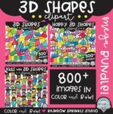 {FLASH DEAL!} 3D Shapes Clipart GROWING Bundle!