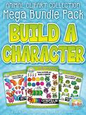 Animal Build-A-Character Clipart Mega Bundle {Zip-A-Dee-Doo-Dah Designs}