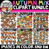 Autumn Mix Clipart Bundle {Fall Clipart}