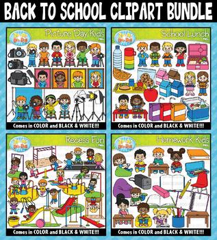 {FLASH DEAL} Back To School Clipart Mega Bundle ($20.00 Value)