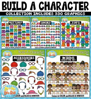 {FLASH DEAL} Build A Kid Character Clipart Mega Bundle
