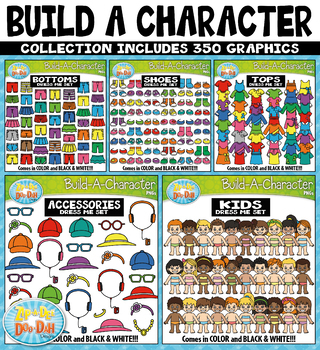 Build A Kid Character Clipart Mega Bundle