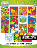 CHRISTMAS Color By Code Clipart {Zip-A-Dee-Doo-Dah Designs}