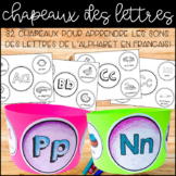 {Chapeaux des Lettres!} A fun way to learn letter sounds i