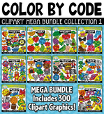 Color By Code Shapes Clipart Mega Bundle {Zip-A-Dee-Doo-Dah Designs}