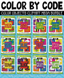 Color Objects Color By Code Clipart Mega Bundle {Zip-A-Dee-Doo-Dah Designs}