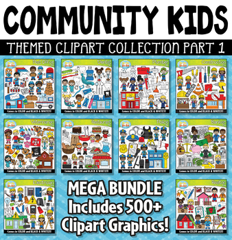 Community Helper Kids Clipart Mega Bundle Part 1