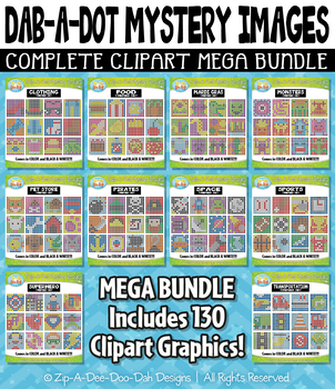 {FLASH DEAL} Dab-A-Dot Mystery Images Clipart Mega Bundle — 130 Graphics