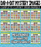 Dab-A-Dot Mystery Images Clipart Mega Bundle — 130 Graphics
