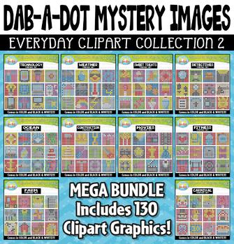 Dab-A-Dot Mystery Images Clipart Mega Bundle 2 {Zip-A-Dee-Doo-Dah Designs}
