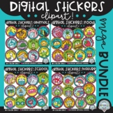 Digital Stickers Clipart MEGA Bundle! {distance learning s