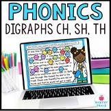 Digraphs ch sh th Digital Phonics Word Work Google Classro