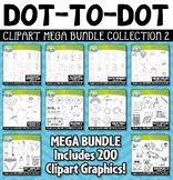 Dot-to-Dot / Connect the Dots Clipart Mega Bundle 2