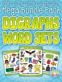 Ending Digraphs Word Sets Clipart Mega Bundle {Zip-A-Dee-Doo-Dah Designs}