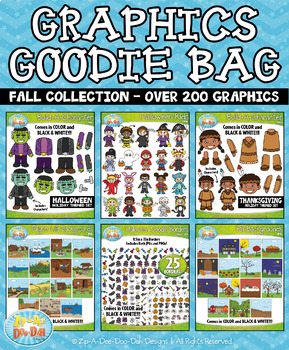 Fall Graphics Goodie Bag Mega Bundle — Over 200 Graphics!
