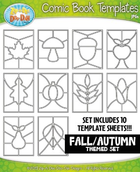 Fall Comic Book Strip Templates {Zip-A-Dee-Doo-Dah Designs}