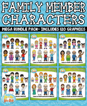 Family Members Characters Mega Bundle {Zip-A-Dee-Doo-Dah Designs}