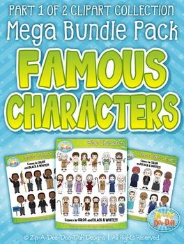 Famous Characters Sets Clipart Mega Bundle {Zip-A-Dee-Doo-Dah Designs}