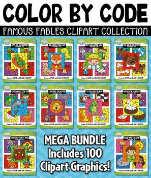 Famous Fables Color By Code Clipart Mega Bundle Collection