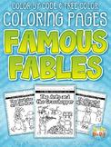 Famous Fables Printable Coloring Pages {Zip-A-Dee-Doo-Dah Designs}