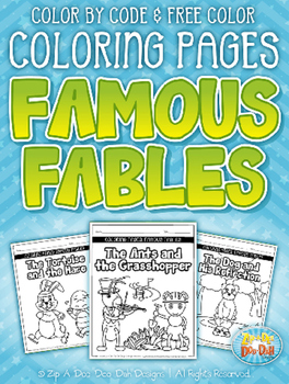 Famous Fables Printable Coloring Pages  — Over 100 Pages!