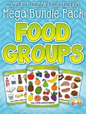 {FLASH DEAL} Food Groups Clipart Mega Bundle — Includes 14