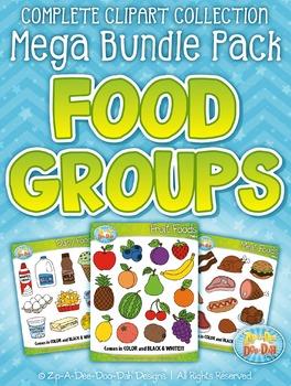 Food Groups Clipart Mega Bundle — Includes 140 Graphics!