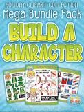 Holiday Build-A-Character Clipart Mega Bundle {Zip-A-Dee-Doo-Dah Designs}